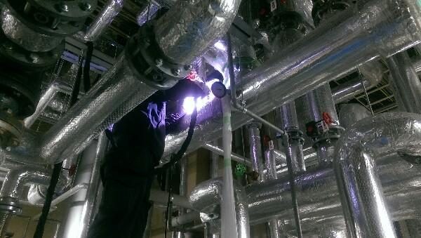 現場溶接 ステンレス鋼管