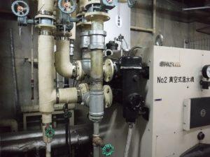ボイラー熱交換器 緊急応急修理