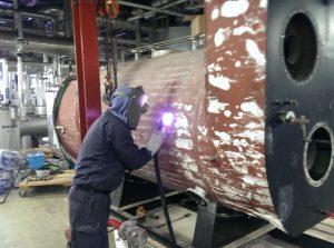 蒸気ボイラー更新工事